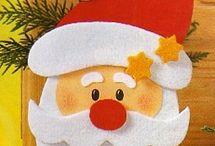 molde papá Noel para la puerta