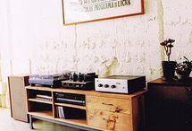 phono,lp / lemezjátszó, lemeztartó