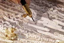 Tulle embroidery