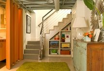 Basement craft room / Ideas for craft space  / by Cathy Thomas