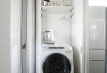 家の中洗濯物