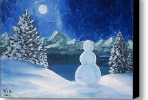 Kerst schilderijen
