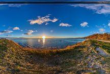Kamminke / Zachód słońca - Kamminke #kamminke #eswinoujscie #swinoujscie #szysz #travel #foto