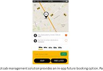 TaxiRoot - In-app future booking option.