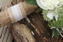 Bridal bouquet handle design