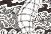 colouring pages / Images doodles zentangle / by Marie Dallen