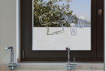 Fensterfolie Küche / Kulinarische Motive als maßgefertigter Sichtschutz für Glas