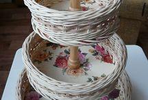 плетеные фруктовницы-конфетницы