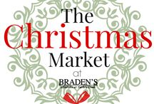 The Christmas Market at Braden's / This year we're hosting our 1st Christmas Market at Braden's!  Together with a number of Knoxville-based businesses, we are offering the community a free, fun and festive holiday, market-style shopping event!