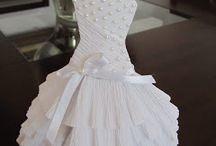 Tarjetas con vestidos