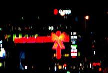 Kaamoksen keinovalot. Artificial lights in Dark Winter