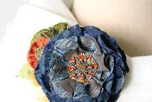 布で作る花