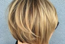 Short layered bobs