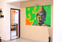 2 Flat Brush Wall Murals and Paintings / Wall Murals, Paintings and charcoal works