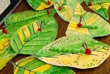 Perhosen toukka lehdellä