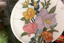 #ceramic #fiori #colore #provedicolore #smaltoeossidi #sabatidilavoro