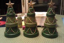 Christmas-Terra cotta pots