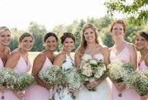 Bridal party / Valley View Farm rustic elegant barn Wedding