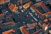 Bardentreffen Festival, Nuernberg in Germany / Bardentreffen festival is one of the biggest annual events in Nuremberg taking place over three days  in the city's historic city center. The festival is attended by more than 200.000 visitors and across the 8 stages visitors can listen to famous artists from all over the world as well as artists nobody knows.People normally sit in the historic square of the old town, buy a beer and relax with the music played on stage-this is the beauty of this festival.