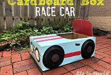 card board cars