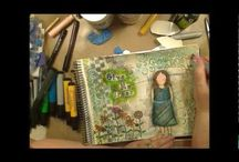 Mixed Media Videos / Videos of Mixed Media and Art Journaling Techniques