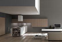 Open plan kitchen-living room