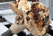 Wood Bouquet Flowers