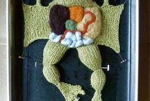 funky knitting  / crochet