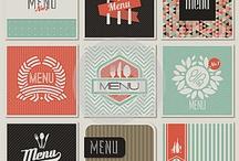 Cafe menus and logos