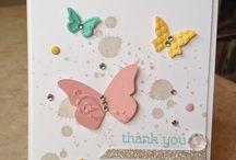 Karten Schmetterlinge und Frühling