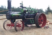 Antique, old, steam tractor