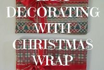 Wrapping it up with Christmas Wrapping Paper / Myriad ideas for using Christmas wrap in clever and interesting ways.