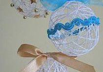 vánoční tvoření / dekorace, přání, svícínky