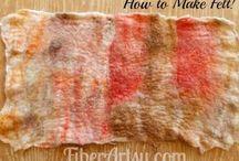 Tutorials: Crochet, Felting (Dry/Wet ), Knitting & Weaving