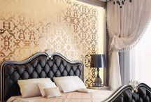Bedroom inspiration / Moderen glamour badroom design