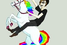 Mikey Way with unicorns / Just pics of Mikey Way with unicorns.. what'd you expect?