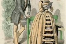 Fashion plates historic / Fashion plates of 18th and 19th centuries