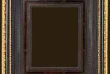Dutch black picture frames