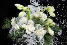 Зимняя флористика / Зимние, новогодние композиции из живых цветов