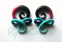 Stretched ears / piercings / jewelry / by Ashley King