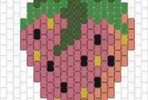 Gourmandises en brick stitch
