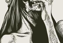 Illustration Tête De Mort