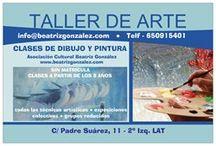 Taller de Arte Beatriz Gonzalez / Cartelería, folletos, tarjetas y fotos del Taller de Arte Beatriz Gonzalez, en donde se imparten clases de Dibujo y Pintura  C/ Padre Suárez, 11 - 2º Izq LAT  / 33009 Oviedo  www.beatrizgonzalez.com