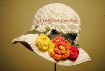 háčkované klobúky