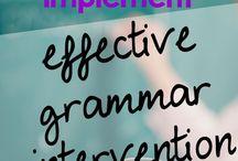 Grammar / Ideas for working on grammar needs
