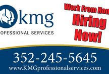 Work from Home! / We provide inbound customer service for Fortune 500 companies. Work PT or FT from HOME. Visit our Facebook page or www.KMGprofessionalservices.com.