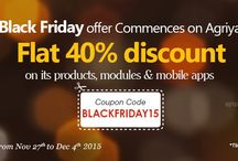 Black Friday Season / Agriya announces scintillating Black Friday offer 2015, the Thanksgiving discount offer across the world. It's the big time for the entrepreneurs to start up their own online business in a cost-effectively manner.