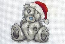 Haft krzyzykowy (Boze Narodzenie) / Cross stitching (Christmas)