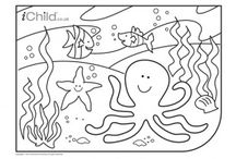 Colouring in Pictures for Children  / Lots of colouring in pictures to help keep your child entertained! Visit iChild.co.uk for thousands more themed activities for children aged 0 - 11 years. / by iChild.co.uk