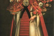 Retratos de profesión. Escudos de monja. Arte religioso colonial.